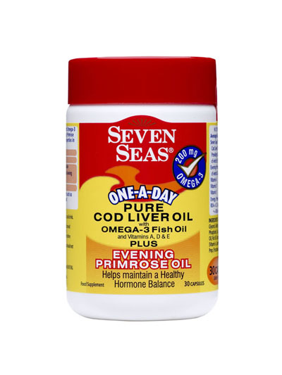 one a day pure cod liver oil with omega3 fish oil plus evening primrose oil